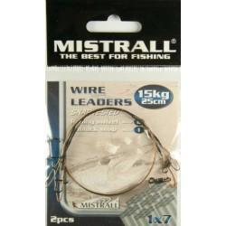 Mistrall Wire Leader oceľové lanko 15kg