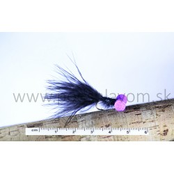 RVFLY Mucha Booby Nymph (Bobina) čierno-fialová 50mm