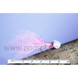 RVFLY Mucha Booby Nymph (Bobina) ružovo-biela 50mm