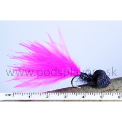RVFLY Mucha Booby Nymph (Bobina) ružovo-čierna 50mm