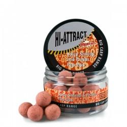Dynamite Baits Pop-Ups Hi-Attract Spicy Shrimp & Prawn 110g