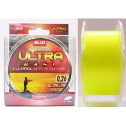 Asso Ultra Cast 300 m fluo žltá
