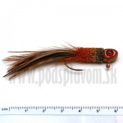 RVFLY Jig Muškársky s očami - medený/3,5g 5cm 1ks