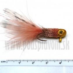 RVFLY Jig Muškársky s očami - ružový/1,5g 5cm 1ks
