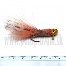RVFLY Jig Muškársky s očami - ružový/3,5g 7cm 1ks