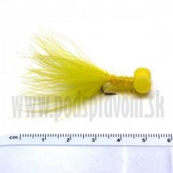 RVFLY Mucha Booby Nymph (Bobina) žltá 50mm