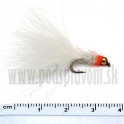 RVFLY Mucha Lura biela/tungstenová hlava oranžová 35mm