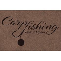 Tričko Delphin CARP fishing hnedá / M