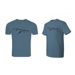 Tričko Delphin SPIN fishing modrá / L