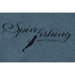 Tričko Delphin SPIN fishing modrá / XL